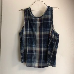 Flannel crop top by Love Fire